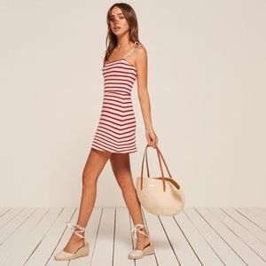 Reformation Dress |  Anette Dress Red, Striped
